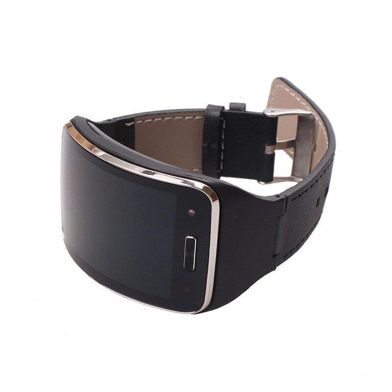 Sport Leder Im Freien Radfahren Uhr Handgelenk Für Samsung Getriebe S Sm-r750 Smart Uhrenarmbänder Strap Fitness Ausrüstungen Ein BrüLlender Handel Schrittzähler