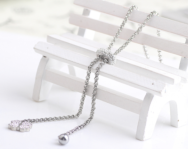 American Fashion Flower Crystal  Necklace