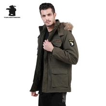 Military 101 Airborne Division M65 Cotton Windbreaker Brand High Quality Thickening Winter Men Warm Coat Parkas DB5E8019