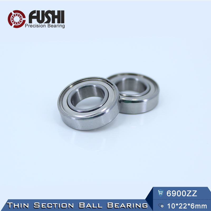 6900ZZ Bearing ABEC-5 (10PCS) 10*22*6 mm Metric Thin Section 6900Z Ball Bearings 6900 ZZ 61900 6903zz bearing abec 1 10pcs 17x30x7 mm thin section 6903 zz ball bearings 6903z 61903 z