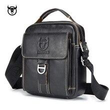 mens Genuine Leather Vintage Shoulder Messenger Bag male Casual multifunction Small Crossbody Flap hangbag man Messenger Bags
