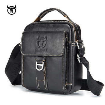 men's Genuine Leather Vintage Shoulder Messenger Bag male Casual multifunction Small Crossbody Flap hangbag man Messenger Bags Cross Body Bags
