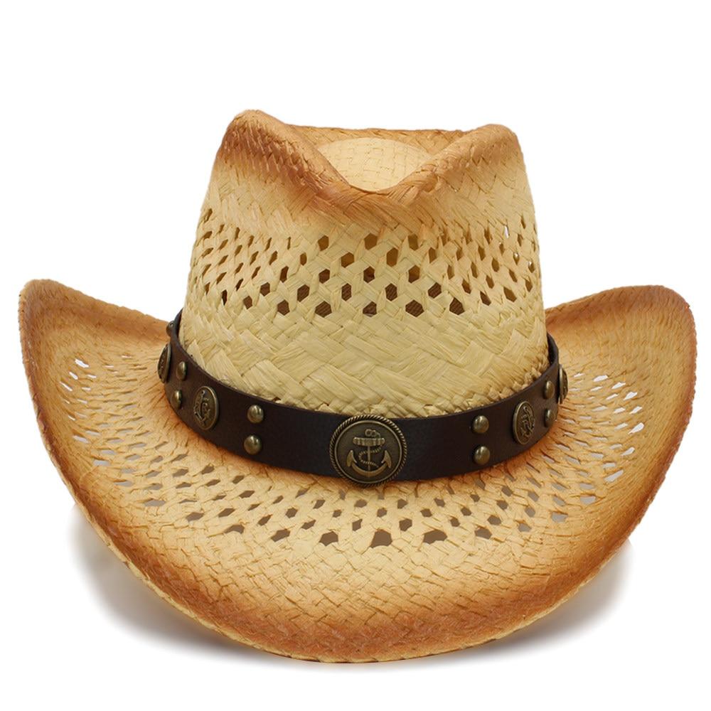 ed67b2fbe7c3c Fashion Women Western Cowboy Hat With Fashion Leather Ribbon For ...