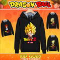 Anime Dragon Ball Son Goku Super saiyan Cosplay Costume Jacket Casual Hoodies Sweatshirt Unisex