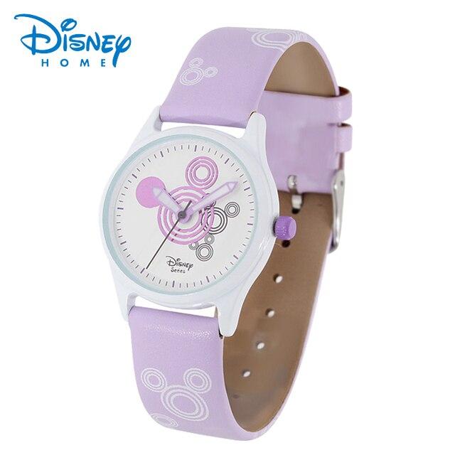100% Первоначально Disney Микки Маус Дети Роскошные Наручные Часы Девушки Одеваются Моды Случайные Кварцевые Часы Лучший бренд Disney 93601 Часы