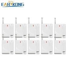 חדש Earykong סיטונאי דלת חלון מגנטי דלת גלאי, עבור 433MHz אלחוטי GSM מערכת אזעקה, דלת פתוח אזעקות
