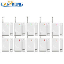 NEW Earykong Wholesale Door Window Magnetic Door Detector, For 433MHz Wireless GSM Alarm System, Door open alarms
