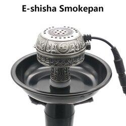 كبيرة الحجم متعددة الوظائف المعدنية E-الشيشة Smokepan الإلكترونية التبغ السلطانية والسيراميك فحم أرجيلة/شيشة/تشيتشا/Narguile
