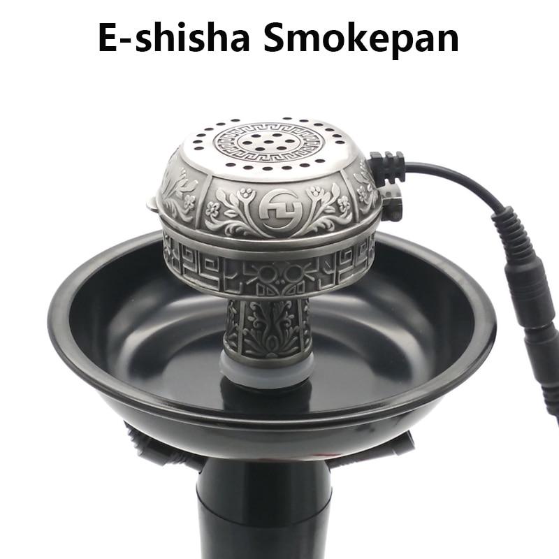 Grande Taille Métal Multifonctionnel E-Smokepan Shisha Électronique Bol de Tabac et En Céramique Charbon Pour Narguilé/Chicha/Chicha/Narguile