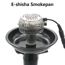 Große Größe Multifunktionale Metall E-Shisha Smokepan Elektronische Tabak Schüssel & Keramik Holzkohle Für Shisha/Shisha/Chicha /Narguile