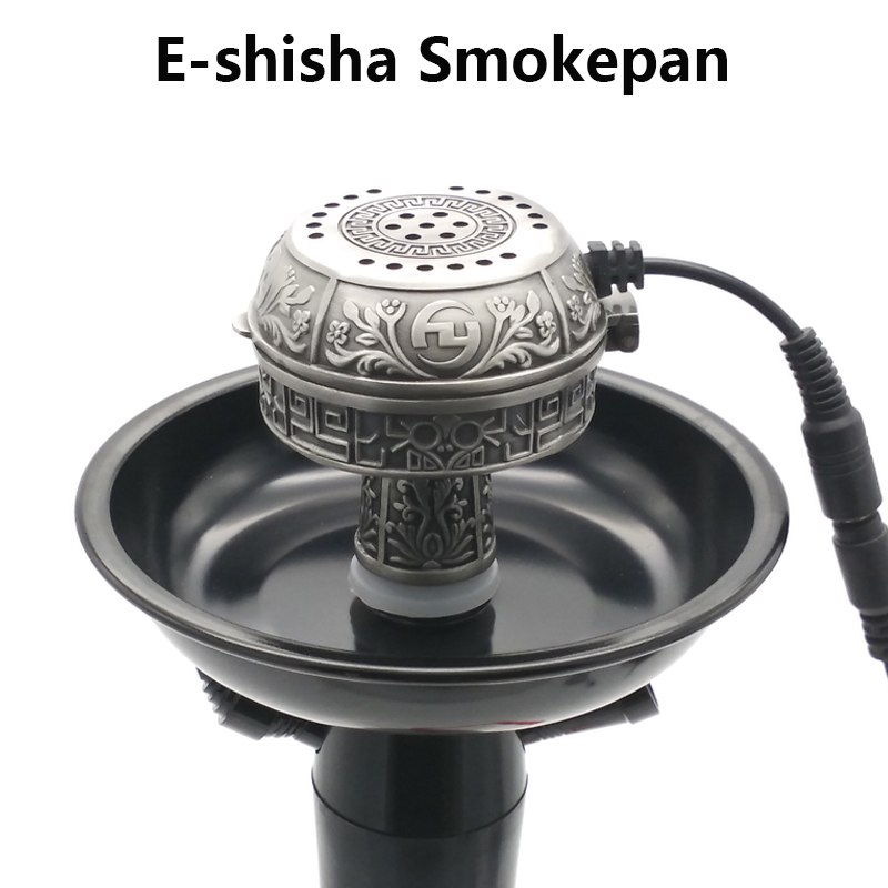 Groot formaat multifunctionele metalen e-shisha smokepan elektronische tabak kom & keramische houtskool voor waterpijp / sheesha / chicha / narguile