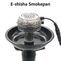 Large Size Multifunctional Metal E Shisha Smokepan Electronic Tobacco Bowl &Ceramic Charcoal For Hookah/Sheesha/Chicha/Narguile