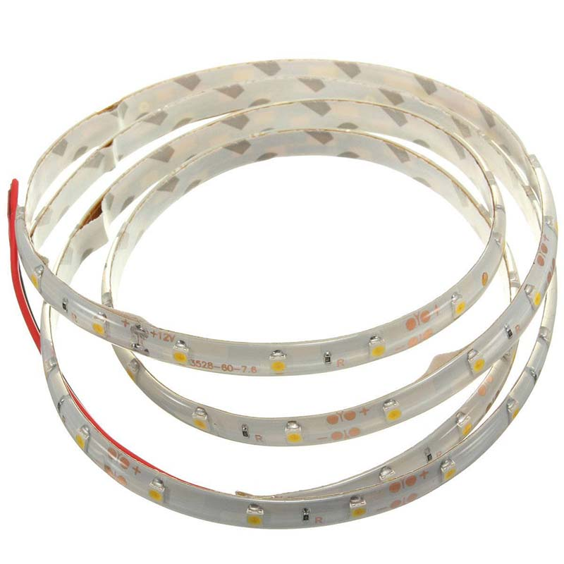 New 1M 60-3528 SMD Waterproof LED Light Strip DC12V (Warm White)