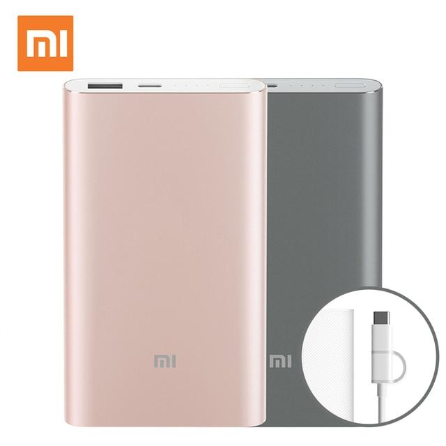Xiaomi Mi Powerbank PRO 10000 мАч Power Bank Внешняя Батарея Типа С Портативный Bateria Externa Портативное Зарядное Устройство Для Мобильного Телефона