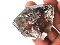 Natural black hair crystal quartz crystal rainbow gum flower obelisk spiritual chakra natural stone and mineral Christmas gifts