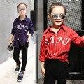 4 5 6 7 8 9 10 11 12 13 Años de La Escuela Blusa de la muchacha del Otoño de Manga Larga de Algodón Blusa A Rayas Adolescentes Bebé Desgaste de La Muchacha