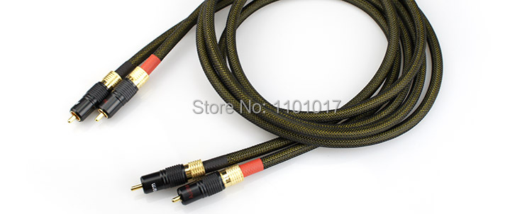 Aucharm AURSCR3 Silver Plated Audio Interconnect Cable HIFI EXQUIS 4N Red Copper Wire RCA Carbon Fiber Plug