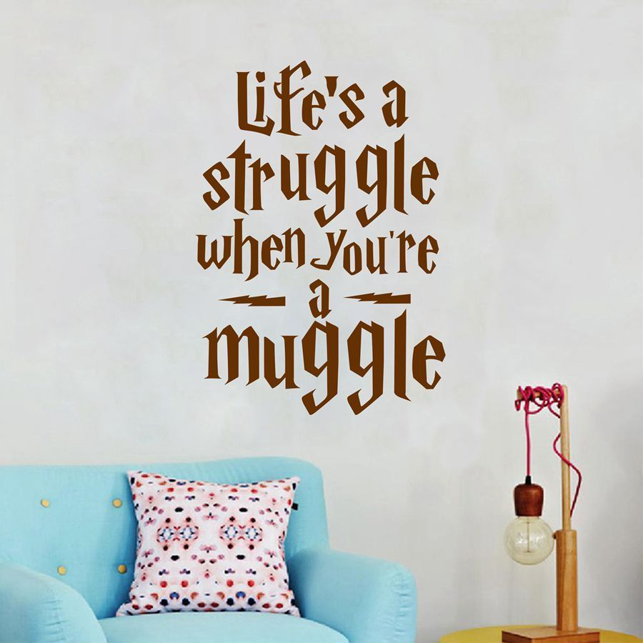 Q041 Life Is a Struggle ... Harry Potter Sebut Harga Wall Sticker - Hiasan rumah - Foto 3