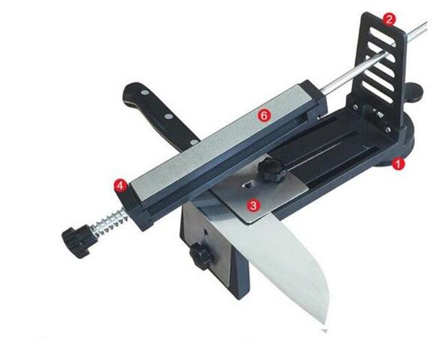 Knife Sharpener Professianal Fix-angle Kitchen Knife Sharpener System 4pcs Sharpening Stone Whetstones Knives Sharpening Machine