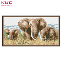 Diamond Embroidery Full circular Diamond animal lakeside elephant 5D DIY diamond embroidery sale Picture Rhinestone decor Gifts