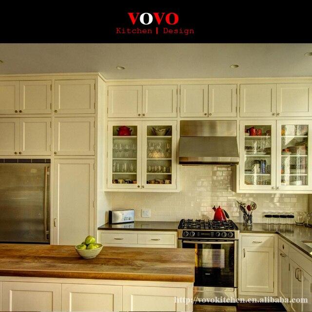 Modern Design L Shaped Solid Wood Kitchen Cabinet In Kitchen