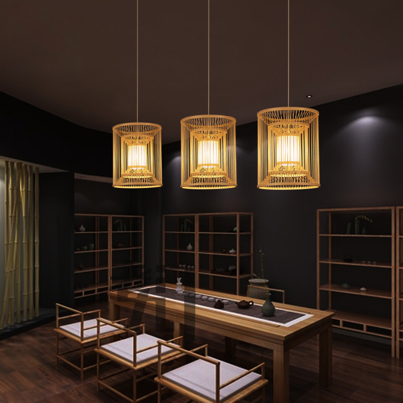 Japanese bamboo Pendant Lights tea garden bedlamp creative southeast restaurant balcony lamp LU71589 bamboo creative chinese restaurant pendant lights bedroom living room japanese bamboo southeast pendant lamp zs69