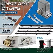 GALO сверхмощный 3600lbs 1800 кг автоматический Электрический раздвижные ворота мотор открывалка с 4 м стеллажи, датчик лампа, клавиатура GSM опционально