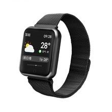 Купить с кэшбэком P68 Smartwatch Women Blood Pressure Blood Oxygen Heart Rate Monitor Pedometer Fitness Tracker Smart Watch Men for IOS Android