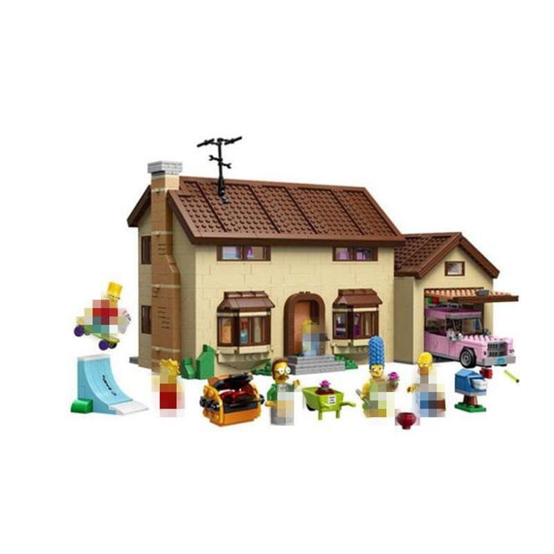 Compatible Legoingy THE Simpsons Series 71006 Lepin 16005 2575pcs The Simpsons House building blocks bricks toys for children конструктор lepin creators simpsons дом симпсонов 2575 дет 16005
