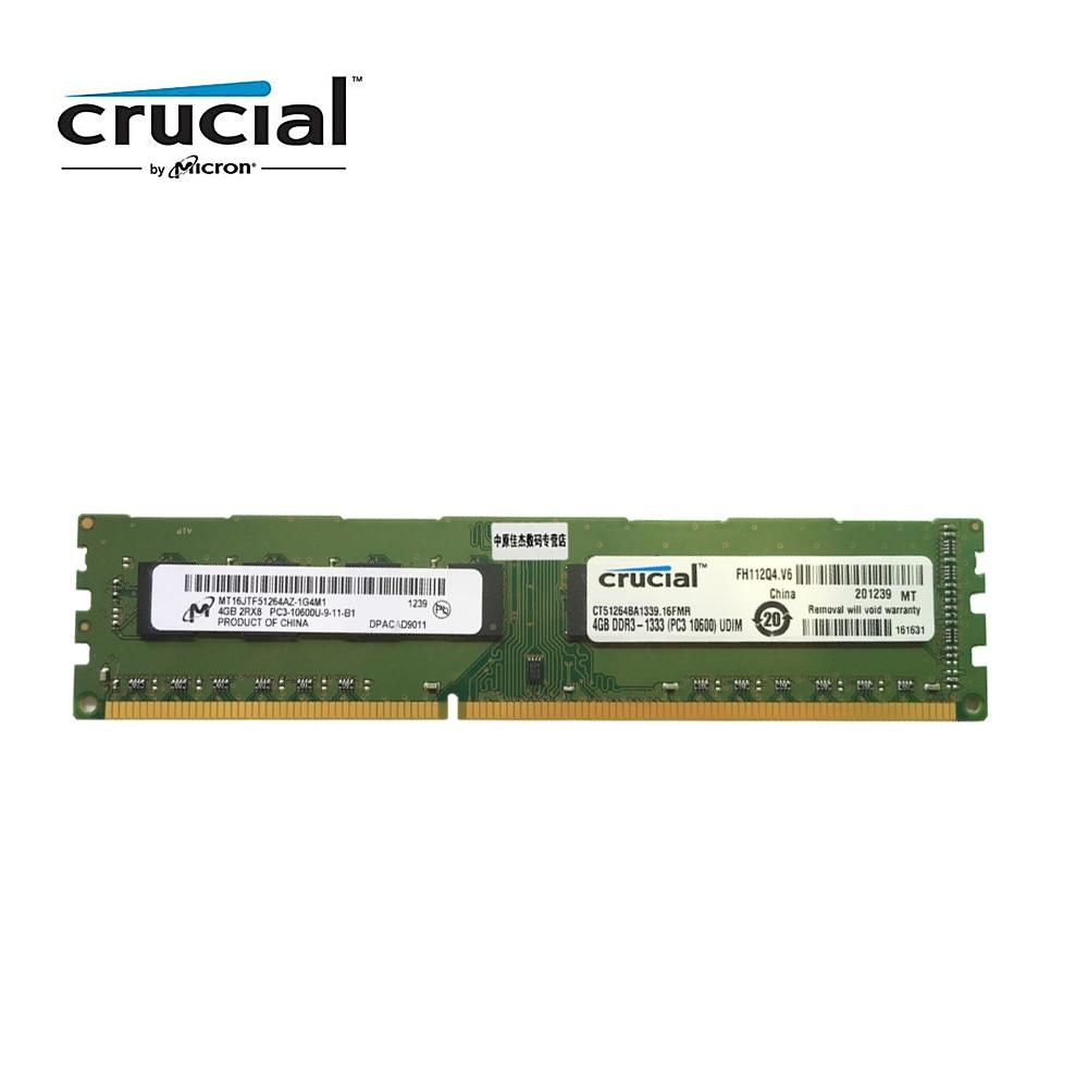 Crucial DDR3 4G 1333MHZ 1.5V CL9 PC3-10600U 240pin 8G=2PCSX4G Desktop Memory RAM