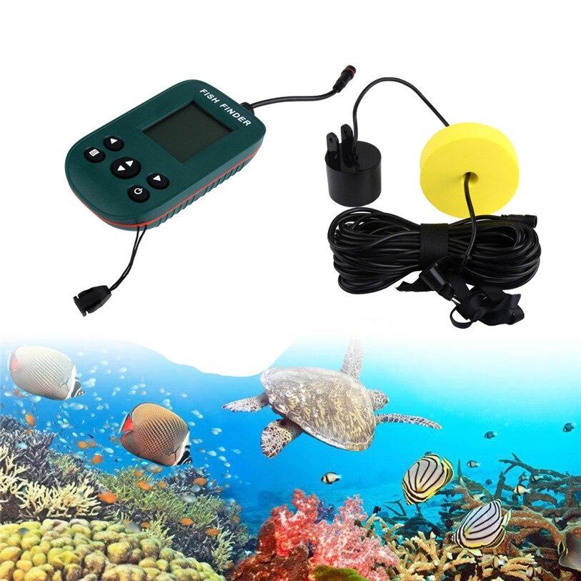 цена на Hot ! 2017 New 100M Portable Fishing Fish Finder Sonar Sensor Depth Sounder Alarm Transducer Outdoor Fishing High Quality Apr 3