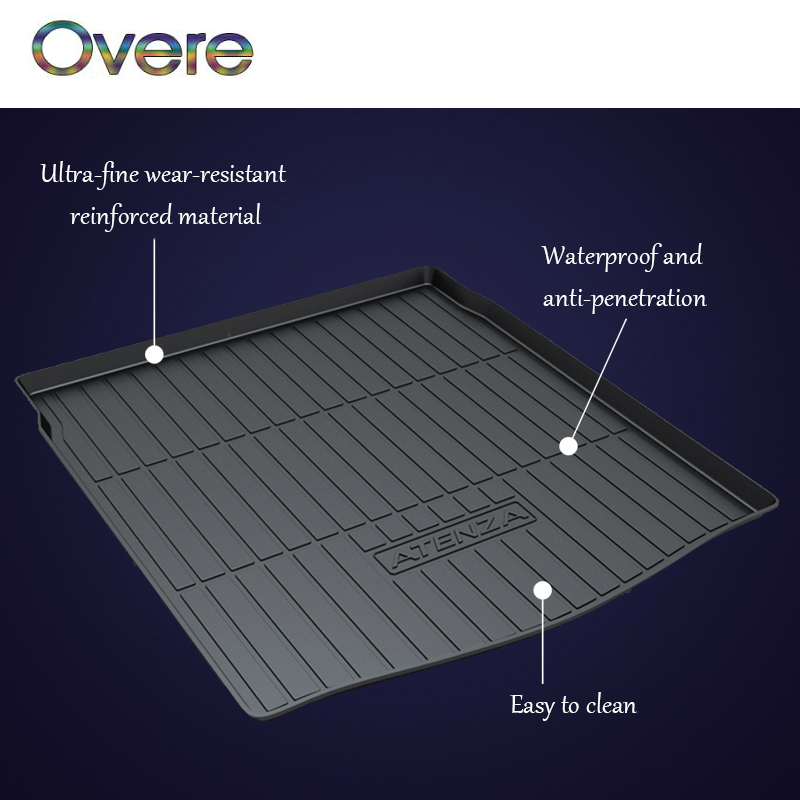 Overe 1Set Car Cargo rear trunk mat For Mazda 3 6 CX-5 KE KF CX-7 CX-9 Axela Hatchback Sedan Atenza Ruiyi Boot Liner Accessories autoexe style real carbon fiber primer frp car rear roof spoiler wing for mazda cx 5 2 5l 2 0l cx 4 mazda 3 axela hatchback