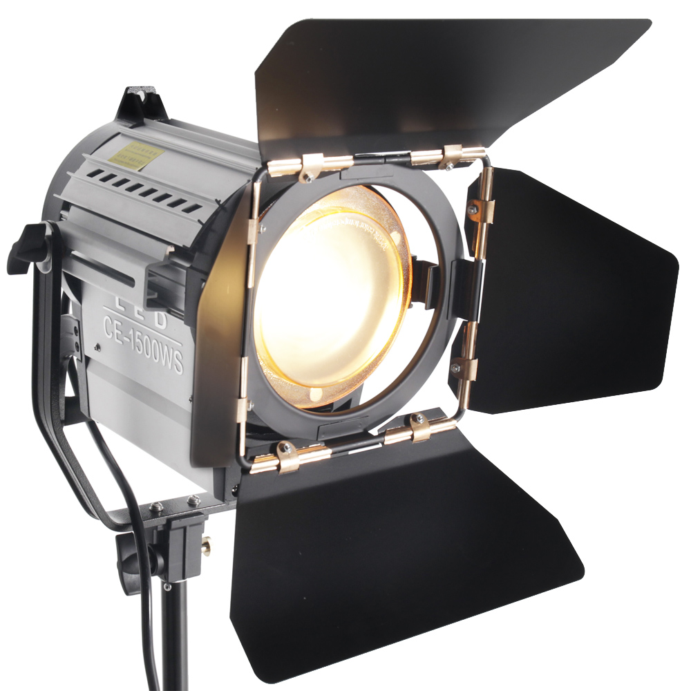 ASHANKS 150W LED Spot Light Wireless Dimmable Bi-color Studio Spotlight Fresnel LED Light 3200-5500K untuk Pencahayaan Video Photo