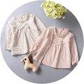 Женский ребенка весной модель младенцы маленьких детей куртка без подкладки верхней одежды до 2016 детей цветочный хлопка с длинным рукавом футболки