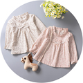 Female baby spring model infants young children jacket unlined upper garment to 2016 children floral cotton long sleeve T-shirt