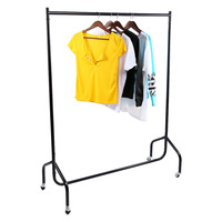 New Design 4 5 FT Heavy Duty Garment Rail Clothes Home Shop Hanging Display Rack Stand