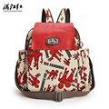 Cartoon Female Fashion Canvas Backpack Outside Travel Shopping School Multifunctional Backpack Bag Girls Bag 1371