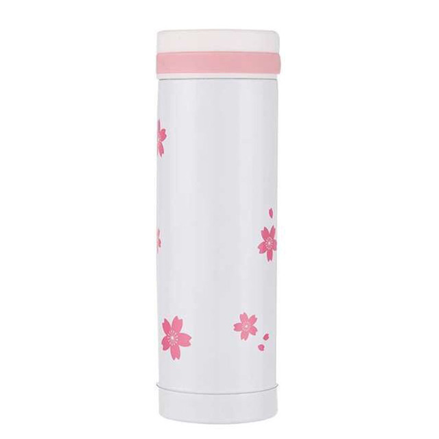 Beautiful Cherry Blossom Thermos 300ml Stainless Steel Pink Coffee Cup Cute Termo Mug Travel Vacuum