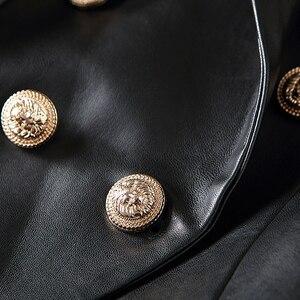 Image 4 - Blouson en Faux cuir femmes, boutons en métal, tendance Baroque, Blazer de styliste, tendance 2020