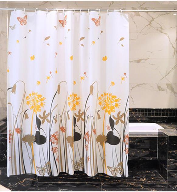 Toilet Bathroom Shower Curtains Hang Bath In The Waterproof Mouldproof Parion Door Curtain