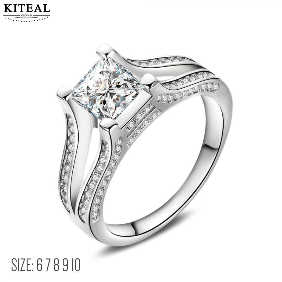 KITEAL Birthday Gift Size 10 6 7 8 9 Girl Rings Zircon Ring 22mm8mm Square Prices In Euros Bijouterie From Jewelry Accessories On