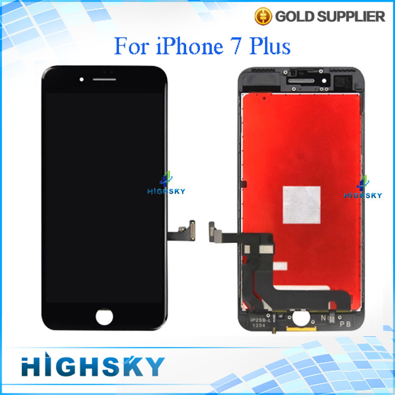 3 pcs/lot Display For iPhone 7 Plus LCD A1661 With Touch Screen Digitizer Glass + Frame Full Assembly 5.5 Free DHL EMS shipping