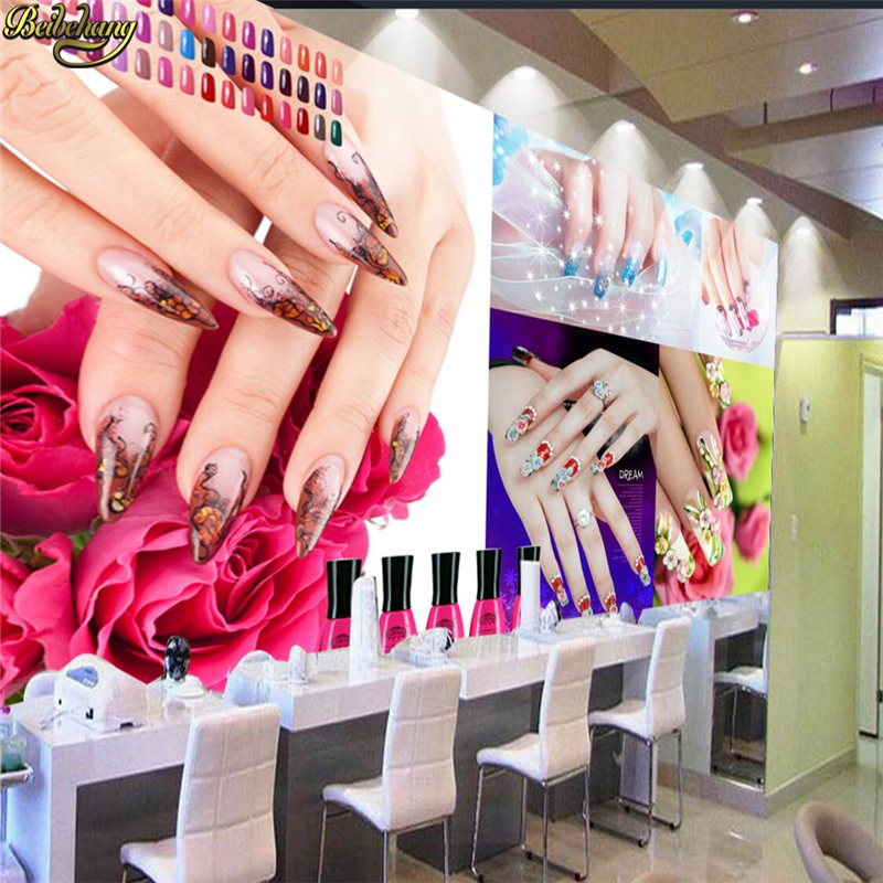 Beibehang Custom Photo Wallpaper Mural Nail Beauty Salon Background Wall Painting Papel De Parede Para Quarto Wallpaper For Wall