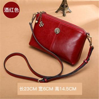 SENDEFN Sac Femme  fine leather handbags slung small bag leather large capacity clutch Korean version of the shoulder
