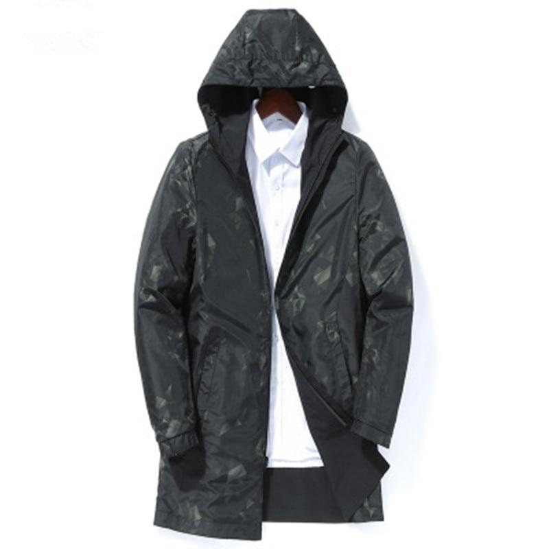 2019 spring autumn men's fashion casual hooded jackets Business High quality jacket men Windbreaker Coat mens Outwear - 4