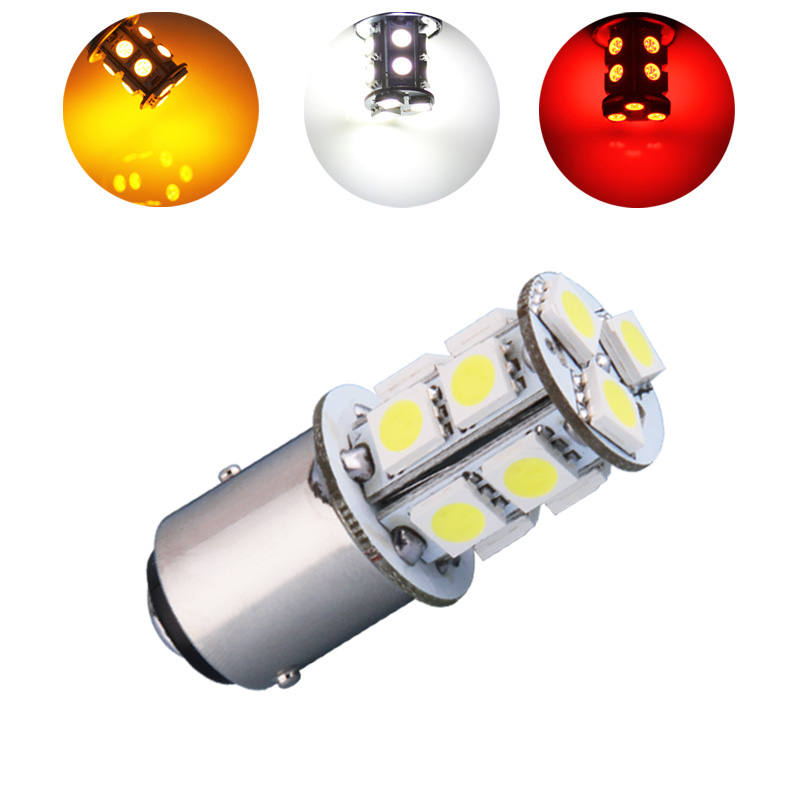 1157 BAY15D 13 SMD 5050 Amber,White,Red p21/5w Yellow LED Bulbs Lamp Auto rear brake Lights Car Light Source parking 1157 bay15d 5050 30 smd 4w 6500k 360lm led car light bulbs dc 14v pair