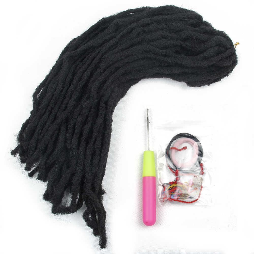 Synthetische Furcht schlösser Weiches Haar Schwarz Rot Braun Goldene Haar Twist Zöpfe Häkeln Flechten Haar Verlängerung Haar Stück