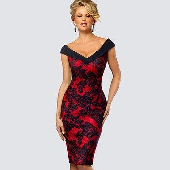 bb6bea5a00fe2 Kadın seksi kolsuz çiçek yaz elbisesi rahat iş ofis iş kılıf Bodycon ince  kalem bayan elbise HB425