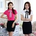 Novo 2015 Verão Moda Feminina Saia Ternos Blusa & Camisas Define Styles Uniformes Ladies Escritório Formal OL Desgaste do Trabalho Outfit