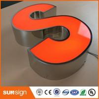 Custom LED Light Box Letters Acrylic 3d Light Led 3d Letter Signs